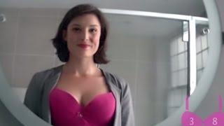 امرأة تضع كاميرا على صدرها لتكشف نظرات الرجال له - فكانت النتيحة مذهله