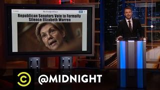 #LetLizSpeak - Historical Burns Too Hot for the Senate - @midnight with Chris Hardwick