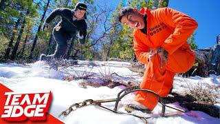 Prison Escape Challenge on a Snowy Mountain!!