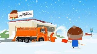 Zeichentrick für Kinder: Der Schneepflug für Doktor Mac Wheelie. German cartoons