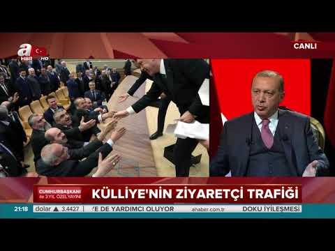 Cumhurbaşkanı Erdoğan: Külliye kapısını millete açtık.