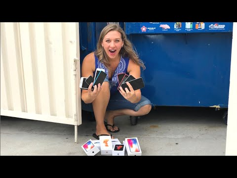 DUMPSTER DIVING SHE FOUND APPLE IPHONES IN A DUMPSTER