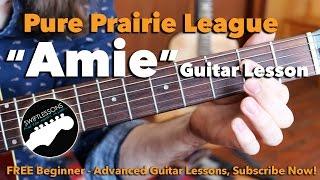 Pure Prairie League - Amie - Intro Solo- Major Lead Guitar Lesson