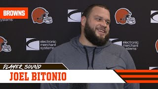 Joel Bitonio: It would be cool to watch Chubb win this year's rushing title | Player Sound