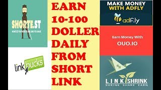 5 Best Short Link To Earn Money Online in Home Without Investment in Urdu / Hindi Tutorial
