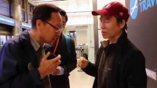 신은미 공항도착 환영모임에 보수단체가 폭력행사