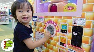 ハローキティーのポップコーン食べたよ❤おやつ ゲームセンター Toy Kids トイキッズ