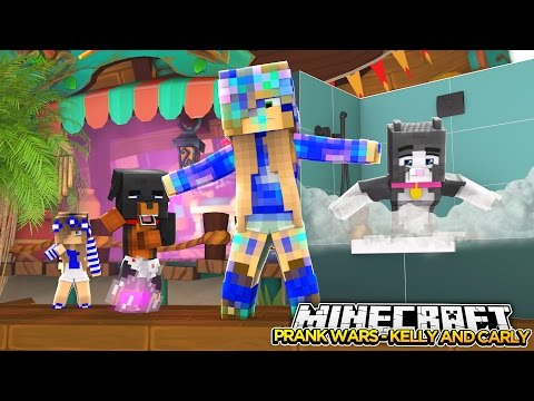 PRANK WARS LITTLE KELLY AND LITTLE CARLY Minecraft Little Baby Max Roleplay