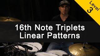 [FUNK] 16th Note Triplets Linear Patterns Drum Lesson [Intermediate]