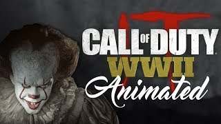 PENNYWISE VOICE TROLLING ON CALL OF DUTY WW2 (ANIMATED)