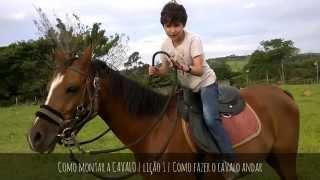 Como montar a CAVALO | lição 1 | Como fazer o cavalo andar