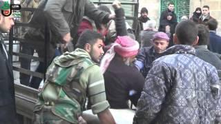 مجزرة حي المرجه - كرم حومد - قصف من الطيران الحربي 21-2-2013