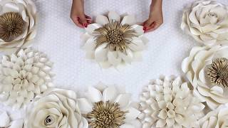 DIY Paper Flower Tutorial | My Wedding Backdrop Flowers | Template #5