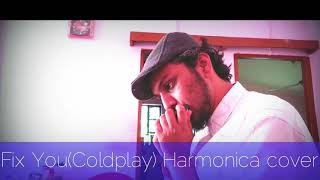 Fix You( Coldplay) Harmonica cover