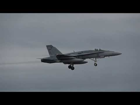 2 F/A-18A Hornets Landing at RAAF Williamtown