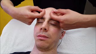 Girl performs Sleeping Head and Face Massage - ASMR Sounds no talking