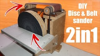 Building a Disc Sander and Belt Sander (Cheap) Homemade sander - zımpara makinesi yapımı