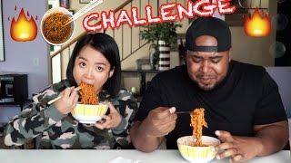 Tiny Asian Girl VS Big Black Man: Spicy Ramen Challenge