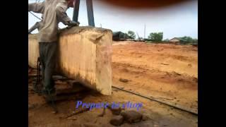 Machine chopping Wood on MARADY GROUP at Kompong Tom province Cambodia