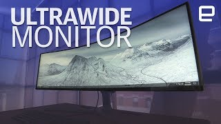 Ultrawide 49-inch Samsung gaming monitor hands-on