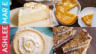 How to make 4 fantastic pies - Pumpkin Cream Cheese, Sour cream lemon, coconut cream and pecan!