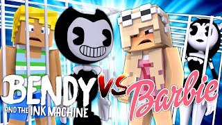 Minecraft BENDY AND THE INK MACHINE V'S BARBIE - BENDY HAS BARBIE'S BOYFRIEND KEN IN HIS BASEMENT!!