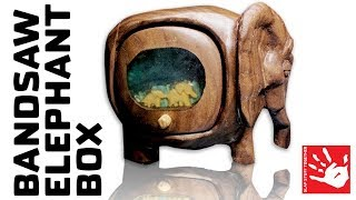 Elephant Bandsaw Box [hand made]
