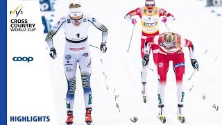 Highlights | Nilsson stuns Johaug once again | Ladies' Mass Start  | Québec | FIS Cross Country