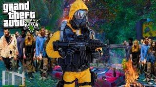 GTA 5 ZOMBIE MOD! 1,000 Zombies Vs My Base 😨 (GTA 5 Mods)