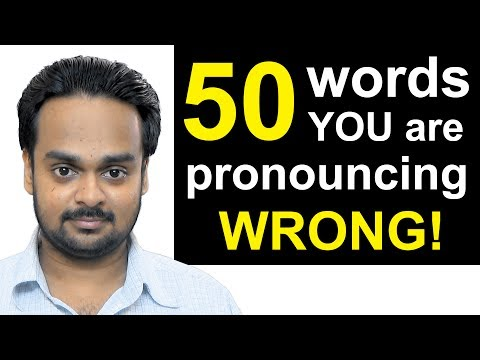 50 Words You're Pronouncing WRONGLY Right Now! | Top 50 Mispronounced English Words, Common Mistakes