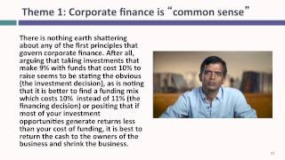 Session 1: Corporate Finance: What is it?