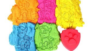 Paw Patrol Learn Colors with Kinetic Sand Molds and Paw Patrol Surprise Toys Ty Mini Boos Blind Box