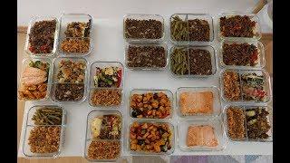 Haftalık Yemek Hazırlığı | Meal-Prep | 2.5 Saatte 8 Yemek | Karatay Menüsü (w Eng Sub)