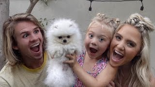 WE SURPRISED EVERLEIGH WITH HER FIRST PUPPY!!! (CUTEST REACTION EVER)