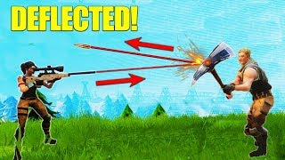 Deflecting A Sniper Bullet! [Fortnite]