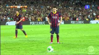penal errado por messi barcelona vs atletico madrid