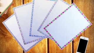 How to decorate borders of project files || 5 attractive borders for project || Part - I