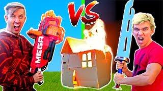 BOX FORT vs BOX FORT CHALLENGE w/ Stephen Sharer, Carter Sharer & Liz Sharer Vlog