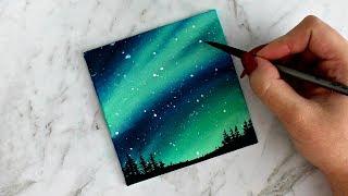 Aurora Sky Canvas Painting | artbybee7 |