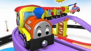 Train Cartoon - Cartoon Videos - Toy Train Cartoon - Toy Factory Cartoon - JCB Toys - Cartoon Cars