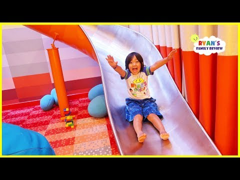 Giant Slide in our room on the cruise and fun indoor playground for kids