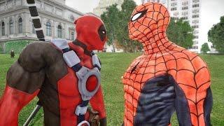 Deadpool vs Spiderman - EPIC BATTLE