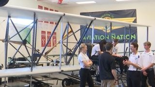 High school students restore Wright Brothers Flyer replica