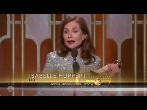 ISABELLE HUPPERT GOLDEN GLOBE 2017 SPEECH best part
