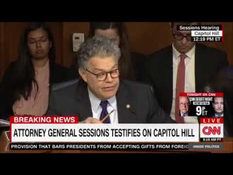 Jeff Sessions Smacks Down Al Franken During Hearing 10 18 2017