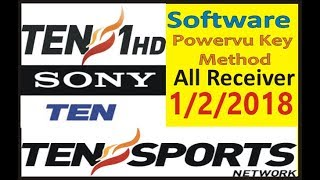 Ten Sports Sony Ten 1 HD Asiasat7 105e Powervu Key |Auto Roll Software All Receiver 100% Working