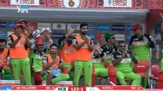 AB de villiers 129 runs on 56 balls in IPL 2016 Royal Challengers Bangalore v Gujarat