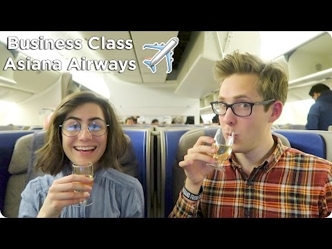 Business Class Flight Asiana Airways London to Seoul to Tokyo Evan Edinger Travel