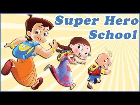 Super Heros Chhota Bheem, Mighty Raju & Luv Kushh at School!