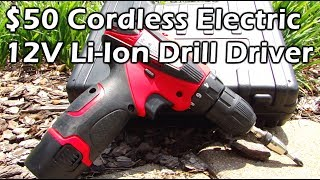 $50 Cordless 12V Li-Ion Drill Driver Tool - PowerAction CD6262